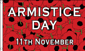 Armistice Day Large Flag - 5' x 3'